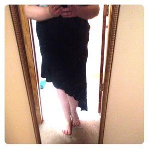 Torrid Bodycon Angled Skirt